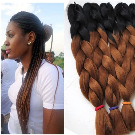 ombre micro braid hair kanekalon ombre synthetic braiding hair 24inch 100g black