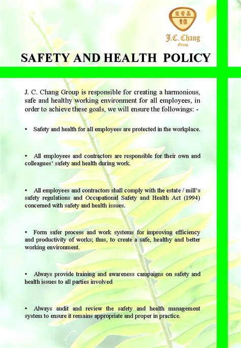 health and safety policy health and safety policy 021 jpg images frompo