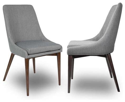 lot de 2 chaises tissu juju couleur gris moderne