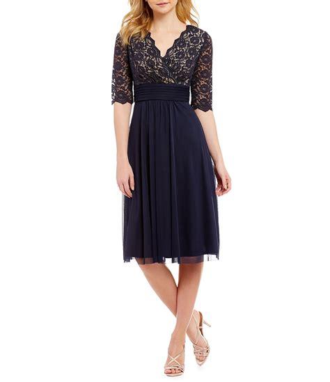 Jessica Howard Petite Surplice Bodice Dress Dillards