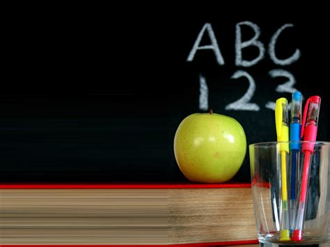 Chalkboard Background With Apple Www Imgkid Com The Image Kid Has It Chalkboard Powerpoint Template For Mac