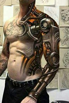 robotic tribal tattoo top 80 best biomechanical tattoos for improb