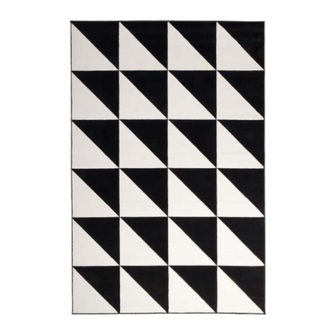 black and white ikea rug sillerup rug low pile ikea