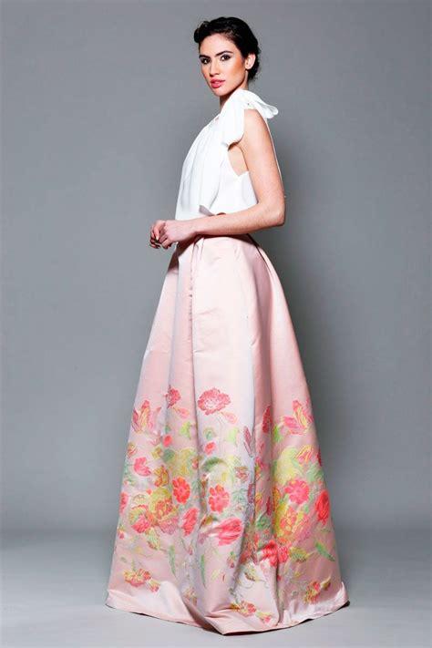 faldas y blusas para bodas 2016 falda larga de fiesta estada flores para invitada boda