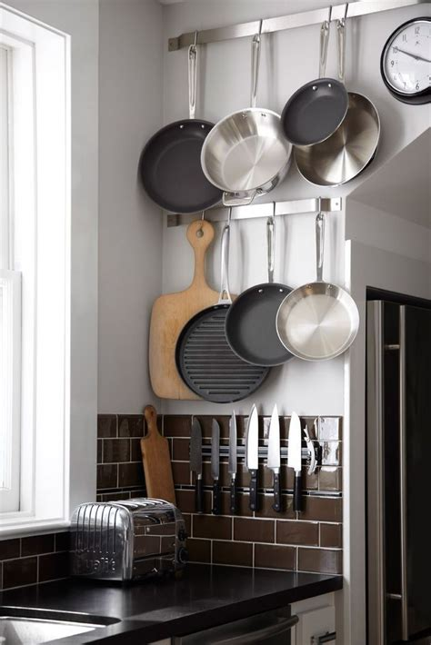 Magnetic Pot Rack 65 ingenious kitchen organization tips and storage ideas