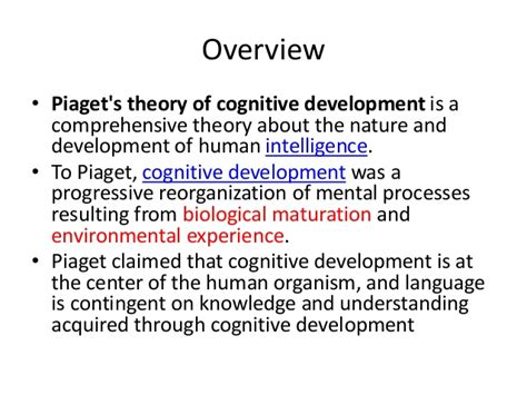 Cognitive Development Theory Piaget S Theory Of Cognitive Development Images