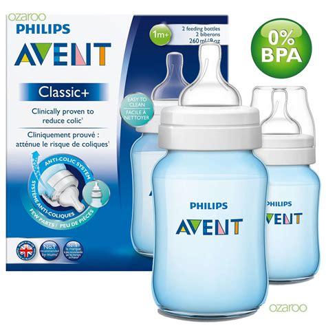 Philips Avent Feeding Bottle 2x260 Ml Blue 2 x philips avent classic 1m baby feeding bottles 260ml 9oz set blue ebay