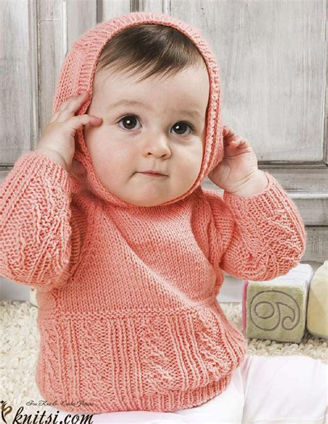 free knitting pattern hooded jumper baby hooded jumper knitting pattern