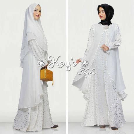Pusat Grosir Baju Muslim Syari Buble 1 gamis syari shafa by koys white pusat grosir baju muslim