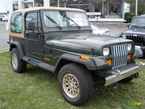 1995 Jeep Wrangler Green Moss Green Pearl 1995 Jeep Wrangler Grande 4x4