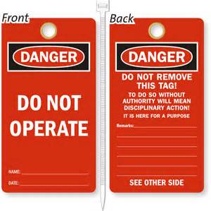 lockout tags amp safety tags free shipping
