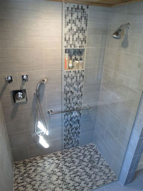 Mosaic Tile Shower Floor by 40 Grey Mosaic Bathroom Wall Tiles Ideas And Pictures