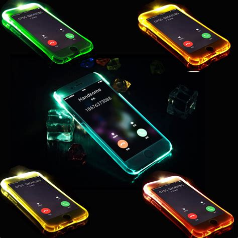 Samsung Galaxy Led Flash new soft tpu led flash light up remind incoming call