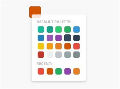 flat color picker animated color palette plugin for jquery color swatches