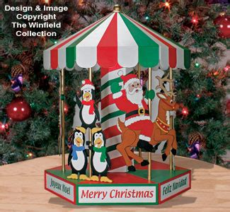 christmas motorized designs tabletop carousel plan