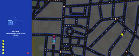 play pac man  google maps