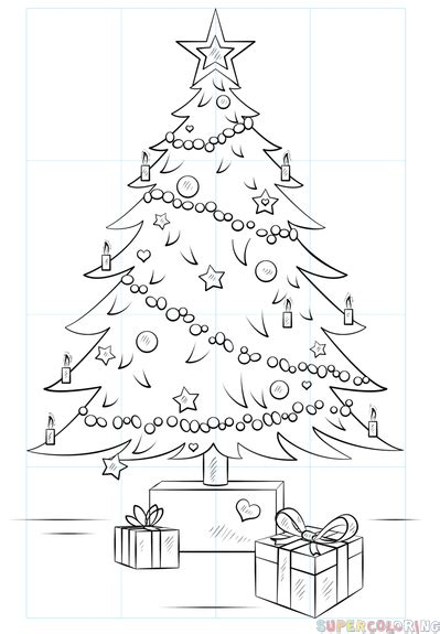 how to draw christmas tree how to draw a сhristmas tree step by step drawing tutorials