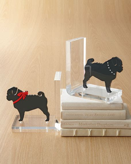 pug book ends quot pug quot bookends