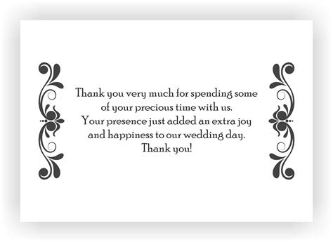 thank you messages for wedding presents thank you note to accompany your wedding return gift