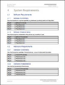 functional specification document template software requirements specification srs free templates