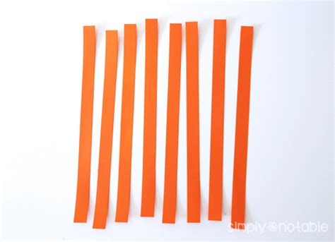 How To Make A Out Of Paper Strips - easy paper pumpkin craft simply notable