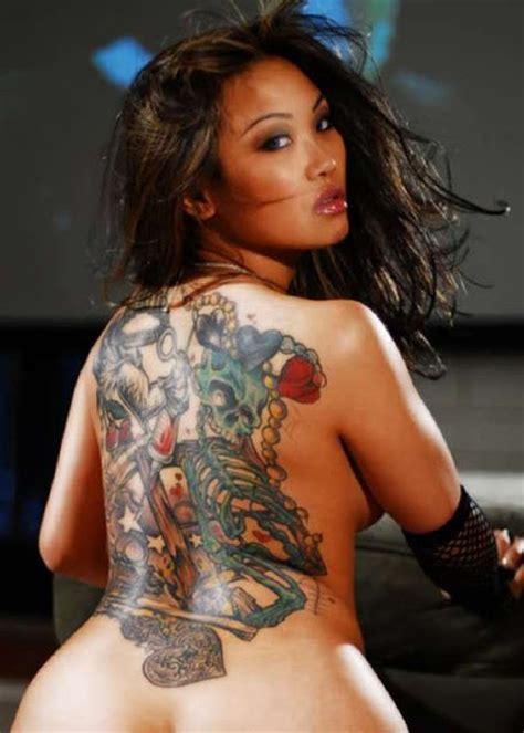hot ladies meaning back skull tattoo women sexy tattoo love
