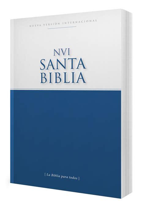 libreria evangelica biblia nvi econ 243 mica tapa r 250 stica blanco azul nvi