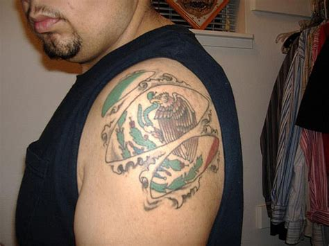 mexican flag tattoo 35 exceptional mexican tattoos creativefan