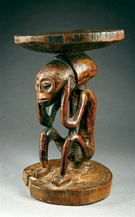 africa stool from the chokwe of angola wood