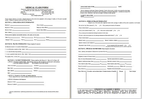 disability form sle disability claim form printable forms