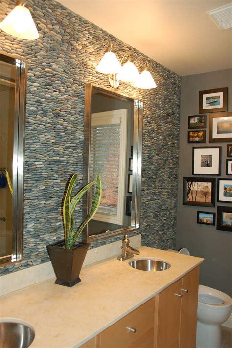 rocks in bathroom river rock tile sheets homesfeed