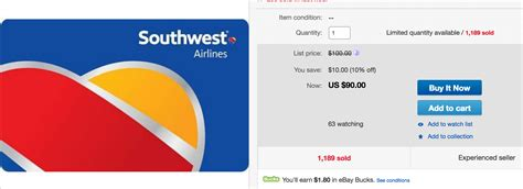 Southwest Gift Card Discount - great deal southwest gift cards up to 17 off running with miles