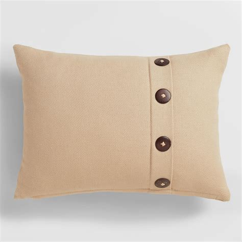 Pillows With Buttons by Basketweave Lumbar Pillow With Button World Market