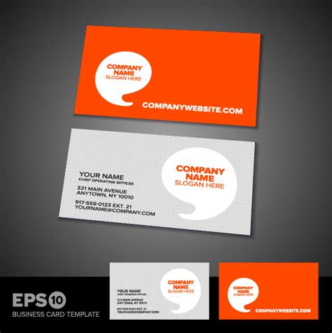 model business card template business card template 05 vector material download free