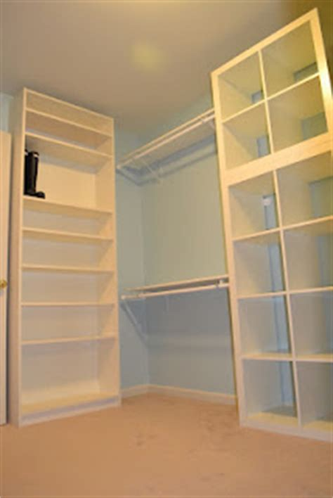 expedit walk in closet ikea hackers ikea hackers ikea billy bookcase for shoe wall and stacked expedit