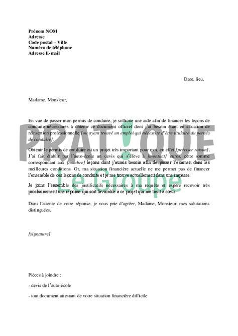 Exemple Lettre De Démission Hopital Lettre De Demande De Financement Du Permis De Conduire Au Faj Par La Mission Locale Pratique Fr