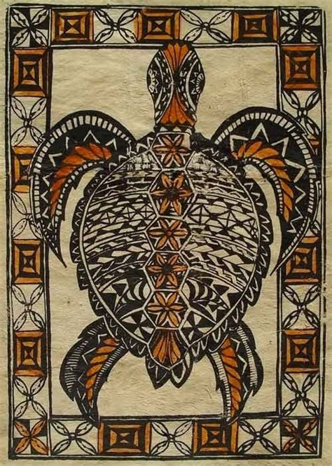 fijian turtle tattoo designs painted turtle tapa cloth from fiji tattoos