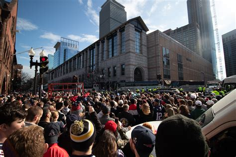 patriots duck boat parade boston roars with pride as fans celebrate patriots duck