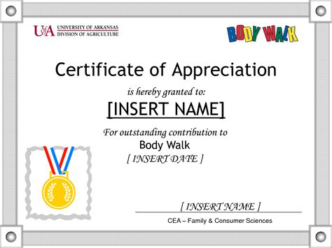 sample text for appreciation certificate new mendation certificate