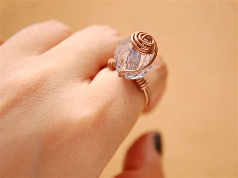 bead jewelry rings how to make a spiral wire bead ring 8 steps with pictures