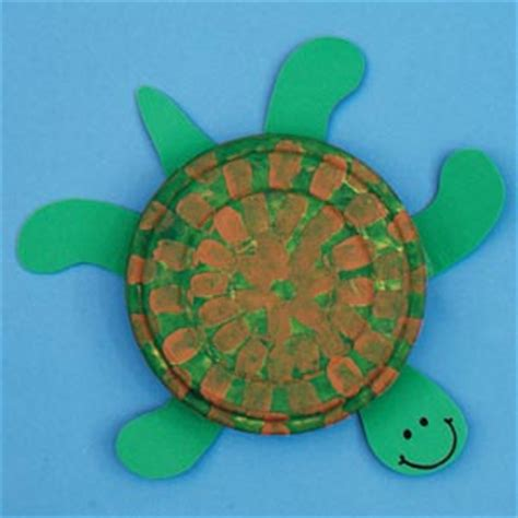 Turtle Paper Plate Craft Template - the sea on crafts fish crafts and