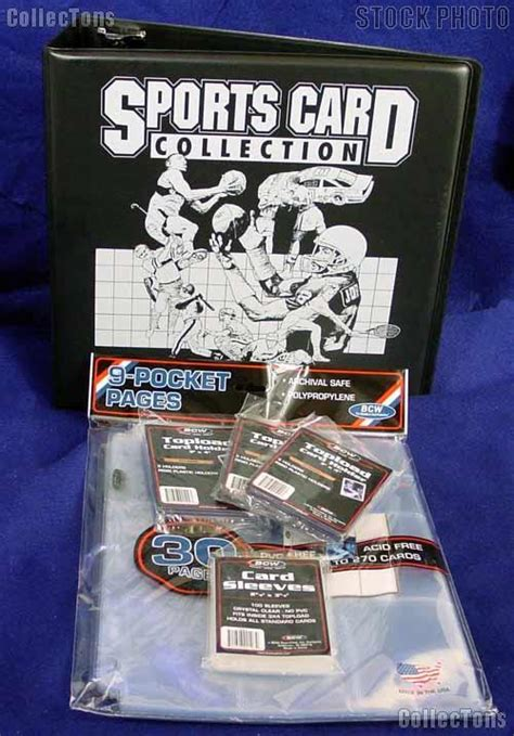 card starter kit trading card kit by bcw sports card collector starter set