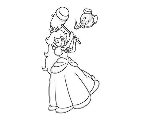 coloring pages for princess peach coloring pages of princess peach and daisy coloring home