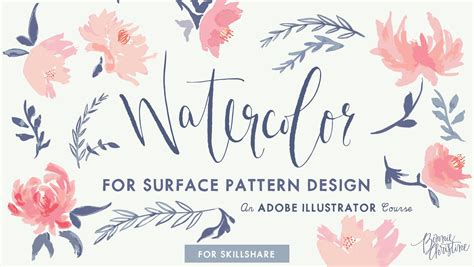 pattern making course watercolor for surface pattern design working with adobe