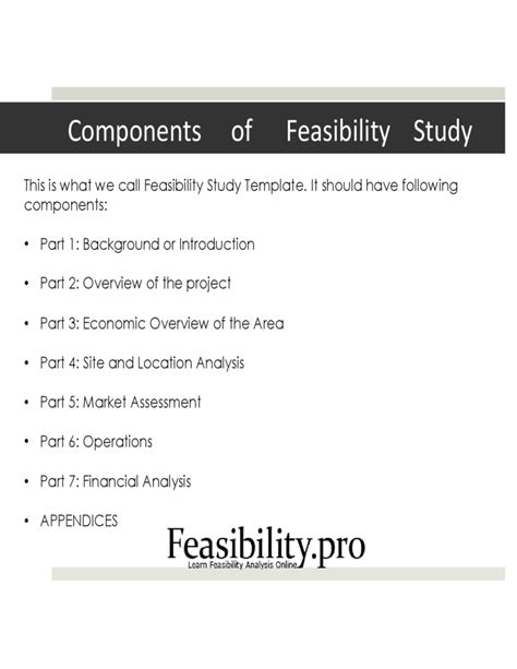 feasibility study template for construction project feasibility study template free