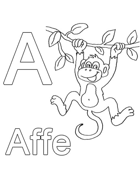 german alphabet coloring pages letter a to print or download for free