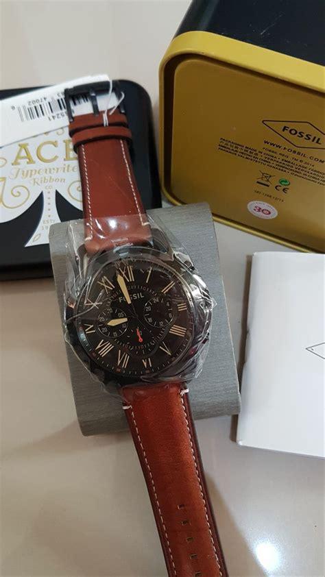 jual jam tangan pria merk fossil type fs   lapak