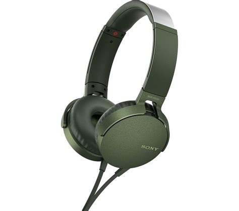 Headseat Sony Bass Mdr 450 With Mic sony bass mdr xb550ap headphones green deals pc world