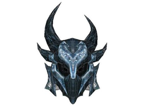 the elder scrolls daedra helmet papercraft free template
