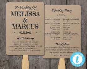 Wedding Fan Program Template by Rustic Wedding Program Fan Template Fan Wedding Program